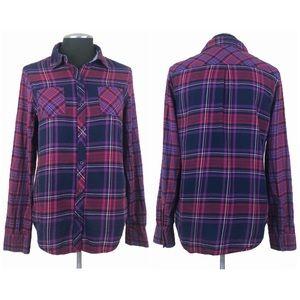 🆕 Arizona Jean Company - Purple and Pink Checkered Plaid Button Down Shirt